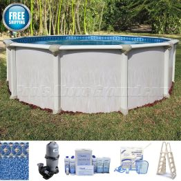 """12' Round 52"""" Deep Montego Pool Package"""