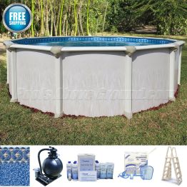 """15' Round 52"""" Deep Montego Pool Package"""